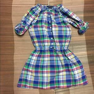 Preowned Ralph Lauren Girl's Plaid Shirt-dress